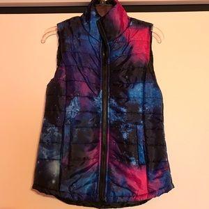 Rue21 Galaxy Zip Front Puffy Vest